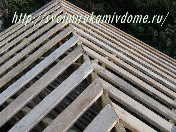 Обрешётка крыши, угол. Как покрыть крышу своими руками