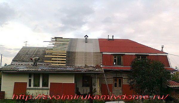 Мансарда строится над домом