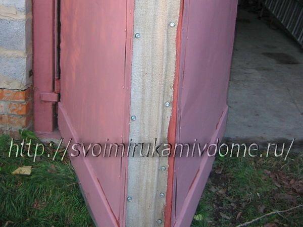 Створки складные ворот гаража