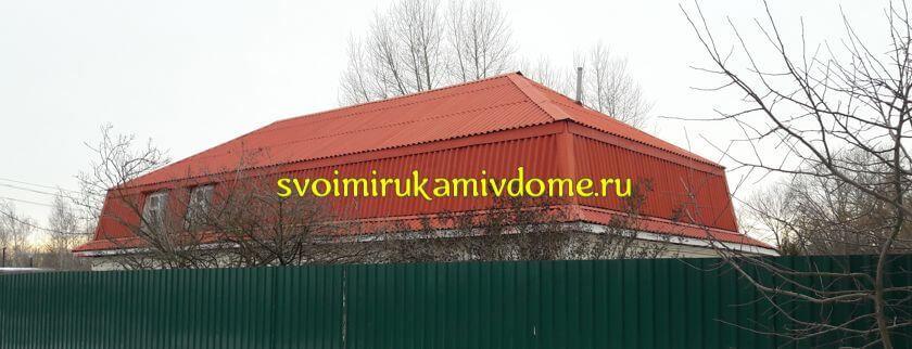 Мансарда над домом и забор