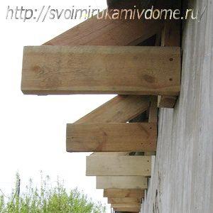 Элементы козырька крыши