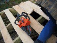 Строительство мансарды, на крыше