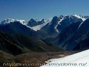У ледника, высокогорье