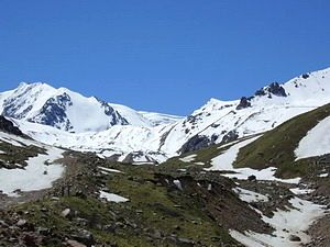 Высокогорье, снежные вершины