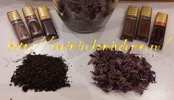 Иван-чай, цветки и листья