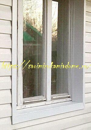 Отделка окна дома околооконными планками