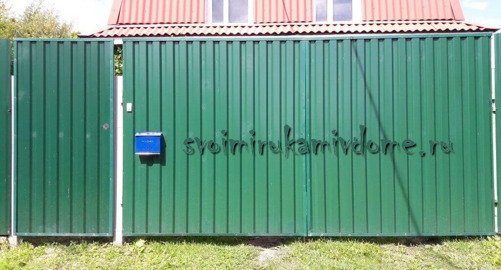 Как сделать забор и ворота из профнастила своими руками – фото