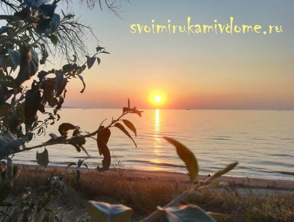 Закат, Азовское море