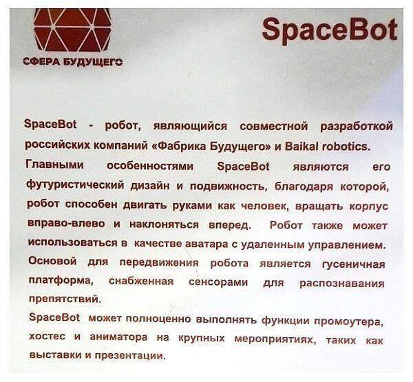 """Описание спейсбота в парке """"Патриот"""" Тулы"""