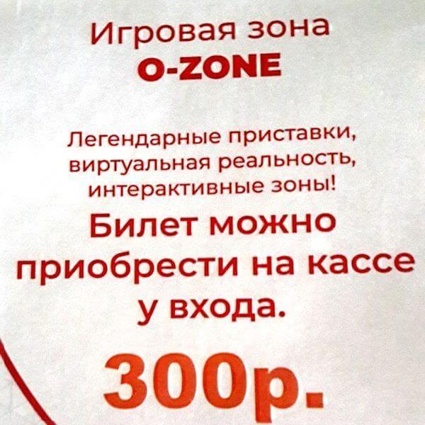 """Цена в игровую зону парка """"Патриот"""" в Туле"""