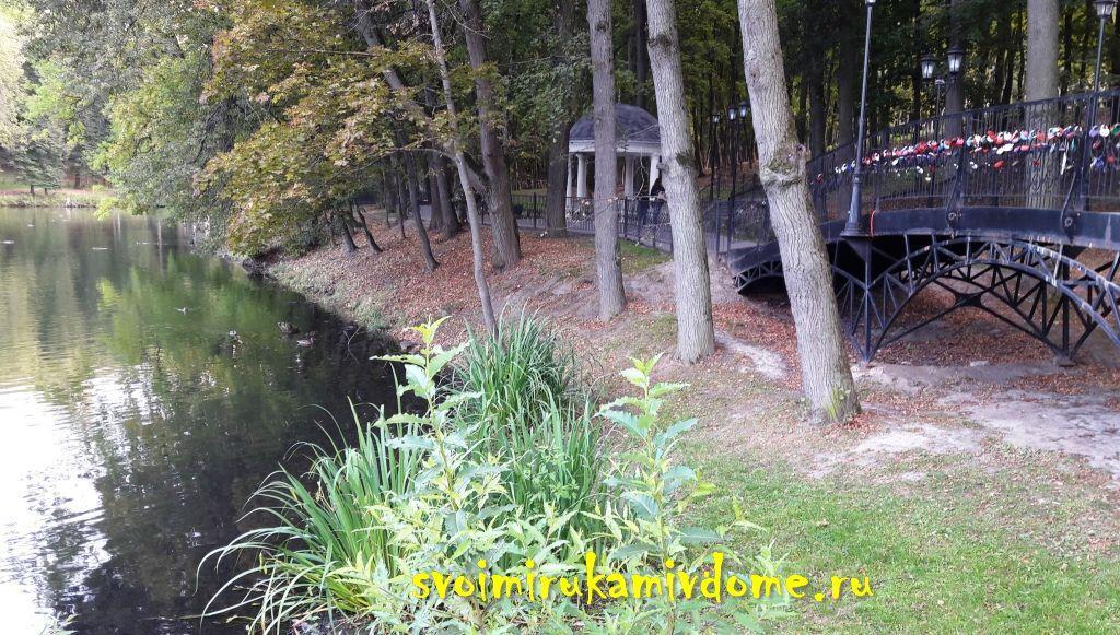 Вид Платоновского парка с плотины
