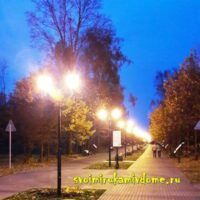 Аллея белоусовского парка вечером, Тула