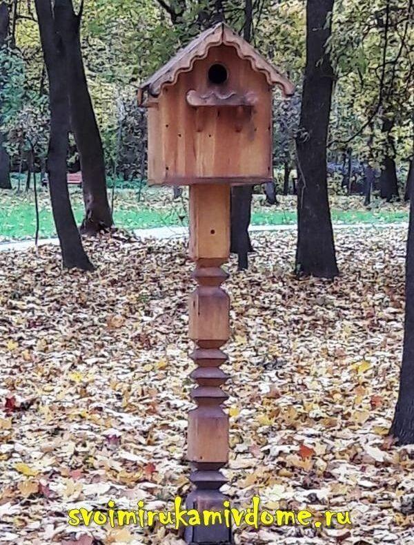 Домик для белки в Белоусовском парке Тулы