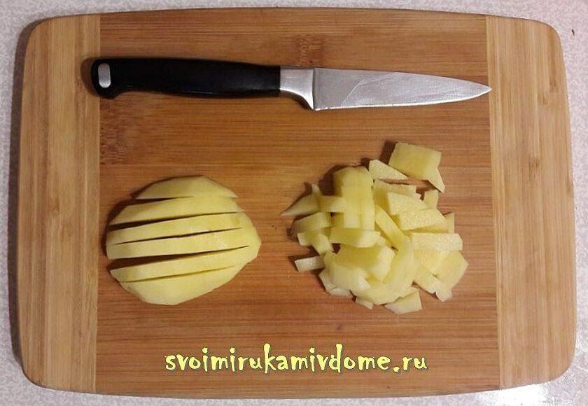 Режу картошку для супа