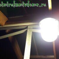 Подвесной светильник включен