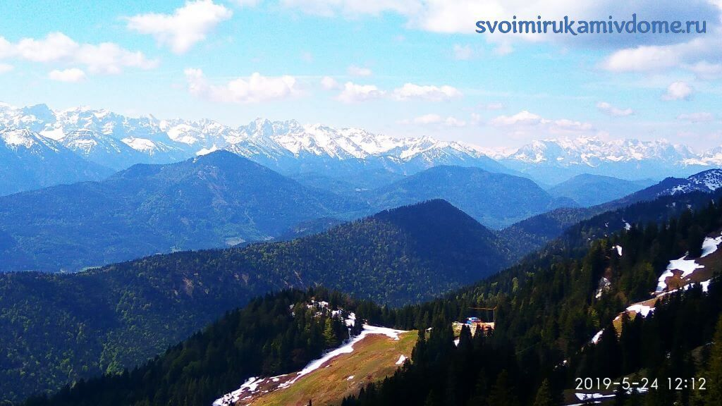 Горы в Баварии с вершины