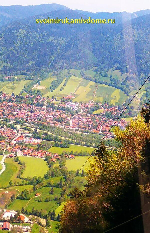 Вид на Ленгрис с фуникулёра, Бавария
