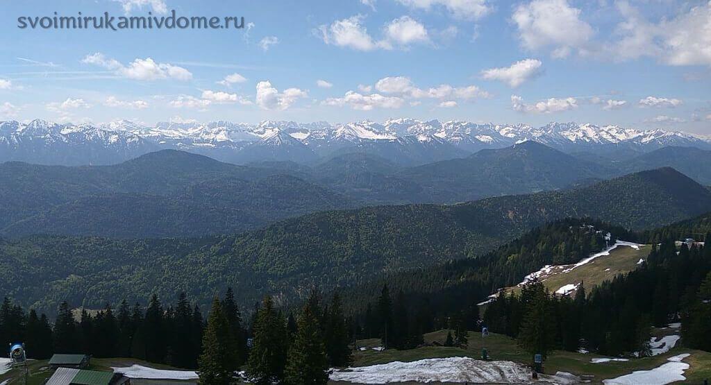 Вид на Баварские Альпы с вершины