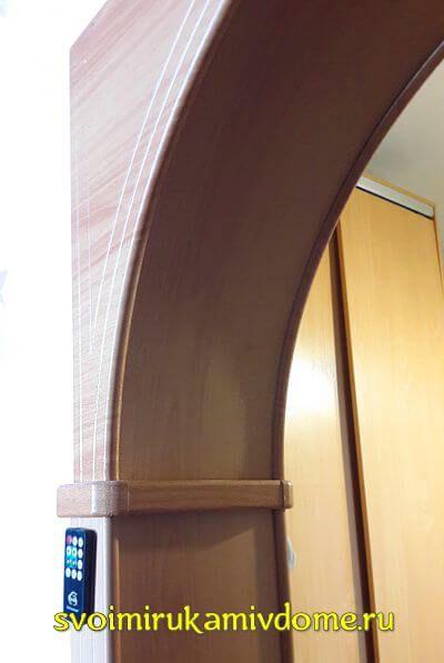 Арка установлена в дверной проём