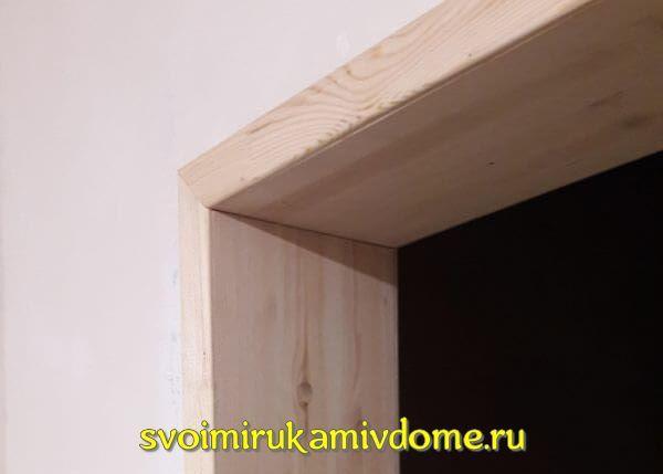 Дверной проем без двери — отделка (оформление) своими руками, фото