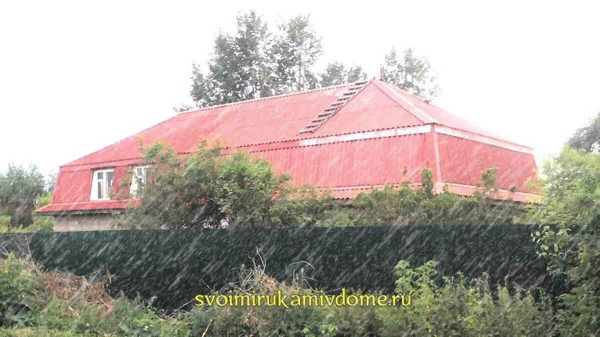 Мансарда с ломаной крышей готова