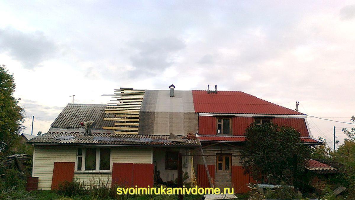 Мансарда строится над крышей
