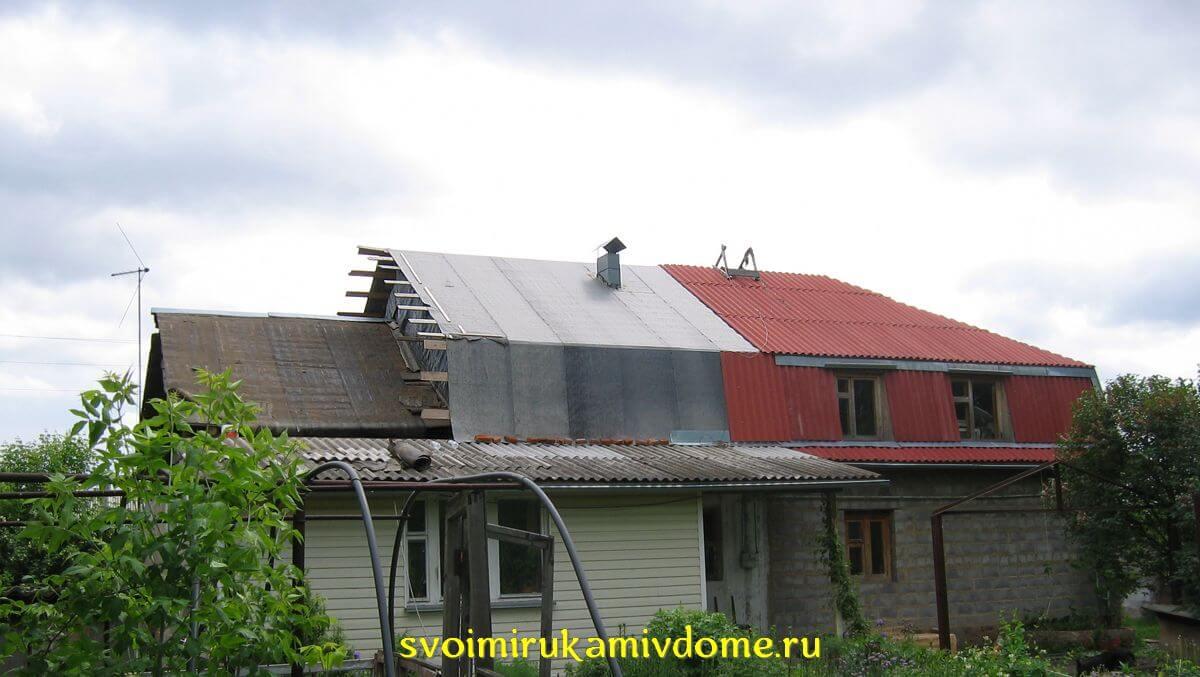 Ломаная крыша своими руками, как построить крышу