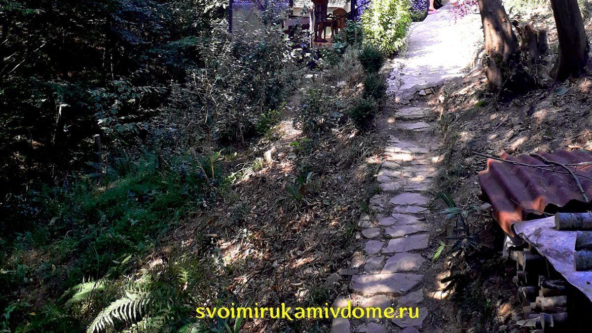 Тропинка на крутом склоне в Сочи